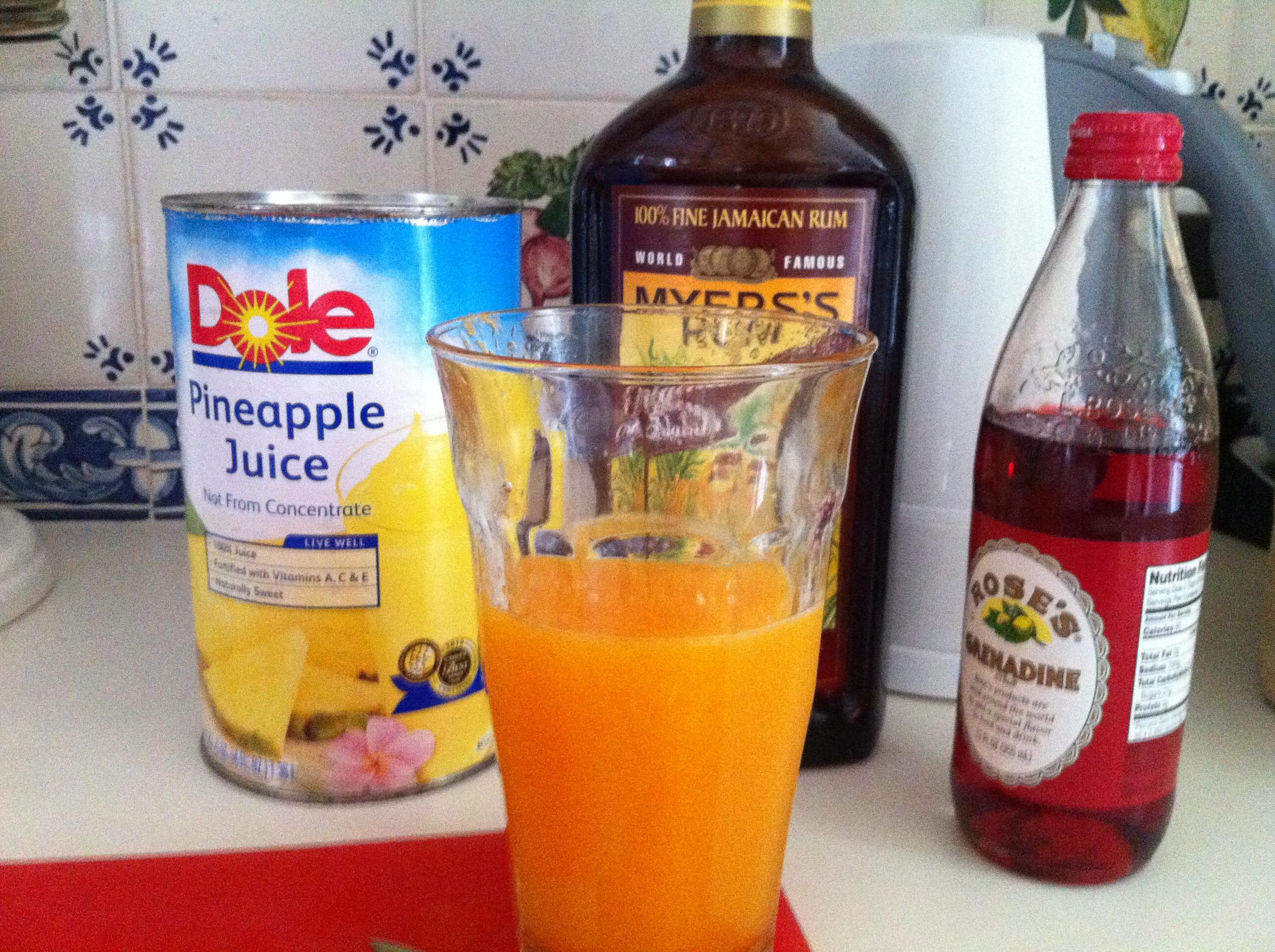 Simple Rum Punch Ataleof2kitchens