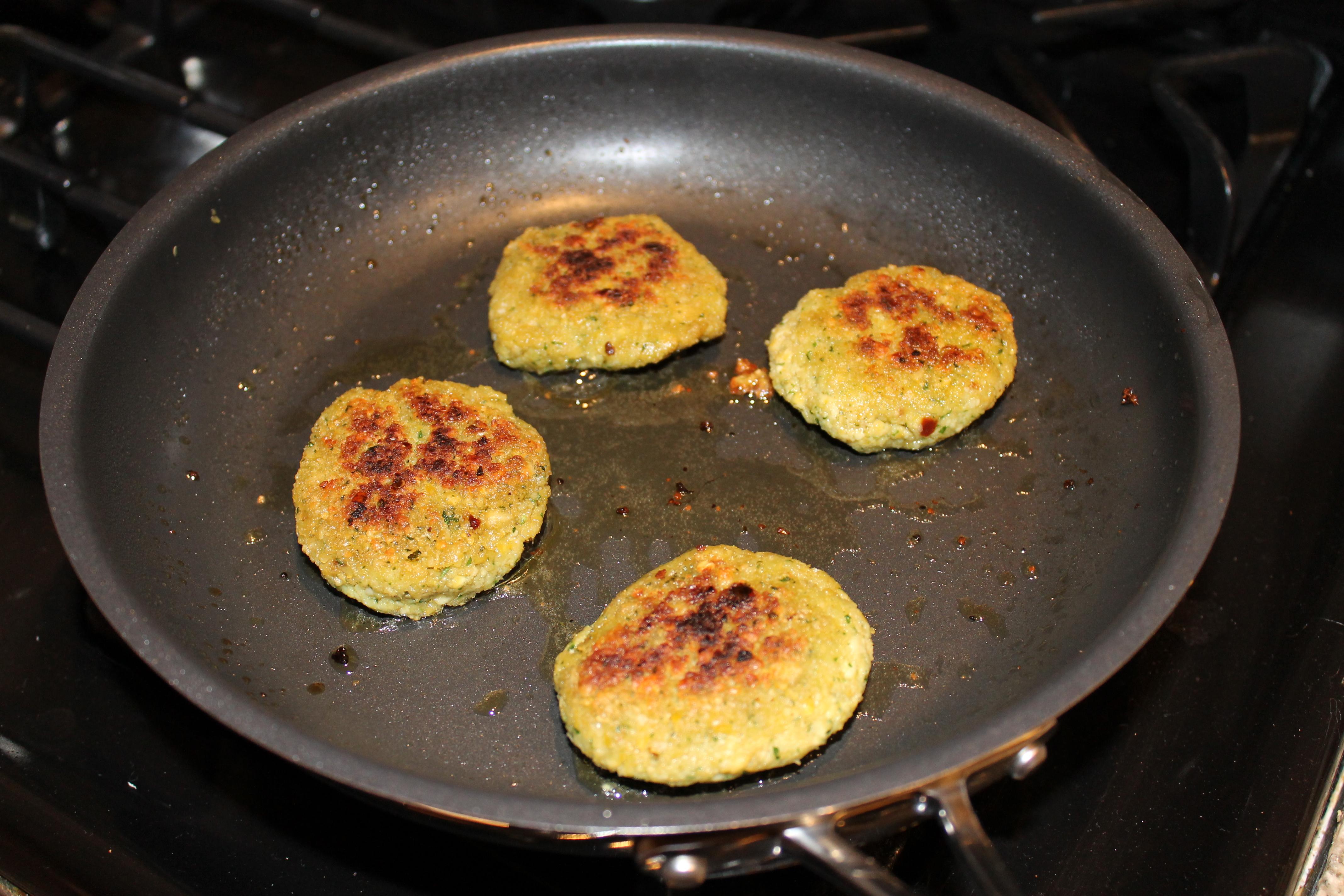 Pan-fried Falafel   aTaleof2Kitchens