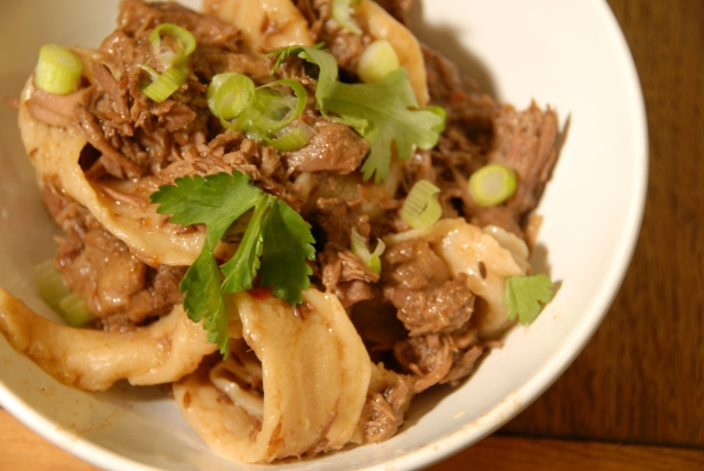 Spicy Cumin Lamb with Hand Pulled Noodles | aTaleof2Kitchens